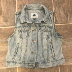 Old Navy Denim Vest Womens M
